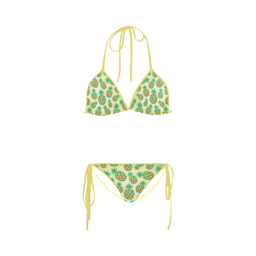 Pineapple Pastel Colors Pattern Custom Bikini Swimsuit