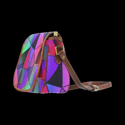 Modern Triangles Saddle Bag/Large (Model 1649)