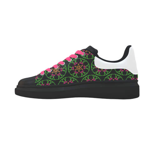 funny doodle pattern 05 Low Top Loafers Womens Shoes (Model 026)