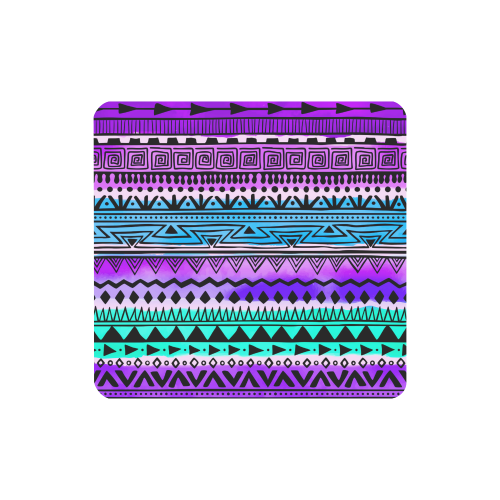 Purple Teal Tribal Pattern Women's Clutch Wallet (Model 1637)
