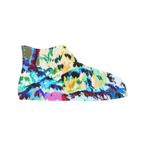 Foliage Patchwork #7 - Jera Nour Aquila High Top Microfiber Leather Men's Shoes (Model 027)