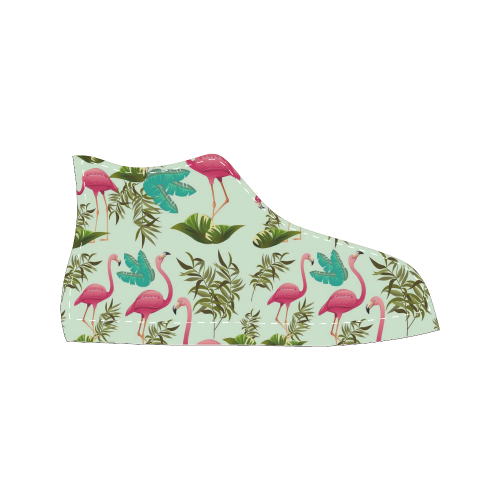 Pink Flamingos Exotic Birds Women's Classic High Top Canvas Shoes (Model 017)