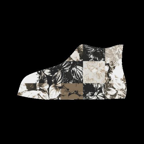 Foliage Patchwork #8 - Jera Nour Aquila High Top Microfiber Leather Men's Shoes (Model 027)