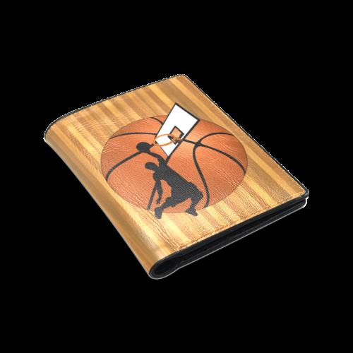 Slam Dunk Basketball Player Men's Leather Wallet (Model 1612)
