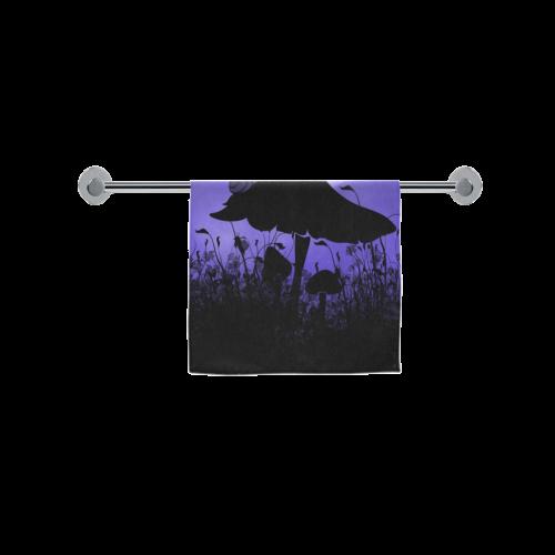 "A beautiful fairy dancing on a mushroom silhouette Custom Towel 16""x28"""