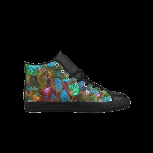 Foliage Patchwork #10 - Jera Nour Aquila High Top Microfiber Leather Men's Shoes (Model 027)