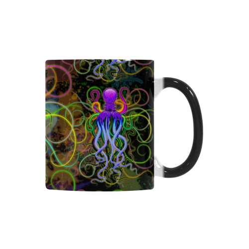 Octopus Psychedelic Luminescence Custom Morphing Mug