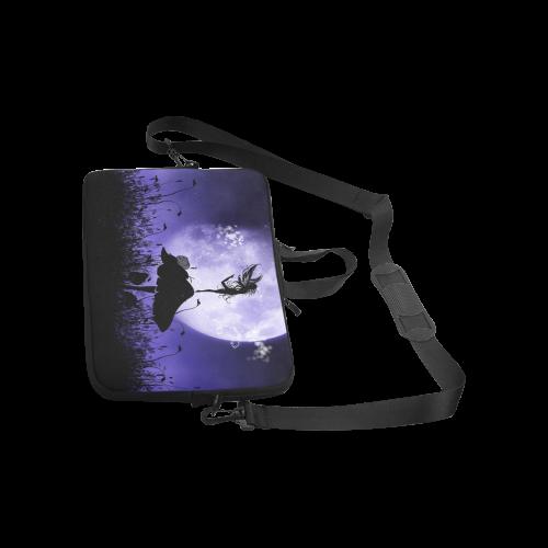 "A beautiful fairy dancing on a mushroom silhouette Laptop Handbags 13"""