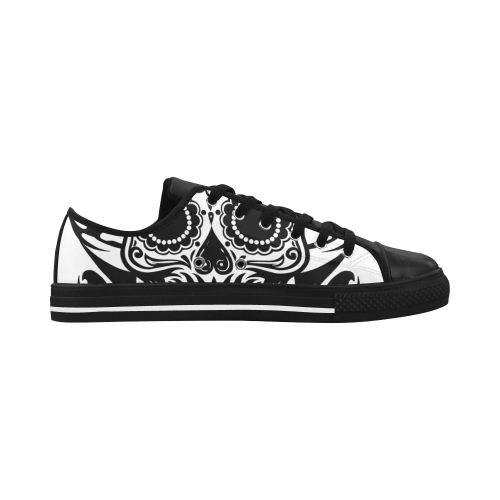 SKULL FLOWERS Aquila Microfiber Leather Women's Shoes (Model 028)