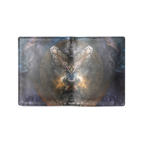 Orthricon Fractal Fantasy Men's Leather Wallet Men's Leather Wallet (Model 1612)
