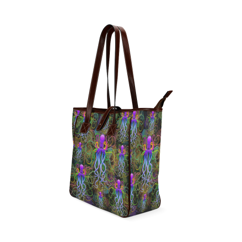 Octopus Psychedelic Luminescence Classic Tote Bag (Model 1644)