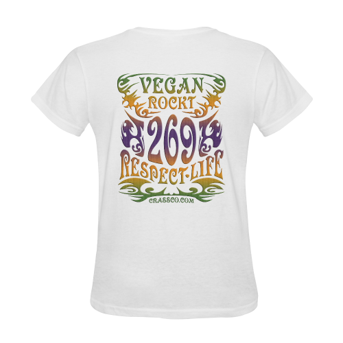VEGAN ROCKT PLUS Sunny Women's T-shirt (Model T05)