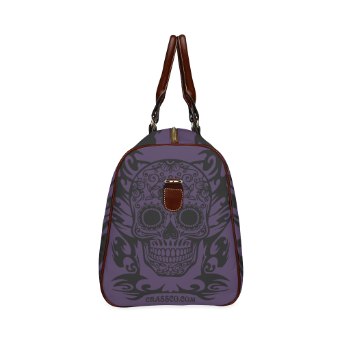 SKULL FLOWERS Waterproof Travel Bag/Large (Model 1639)