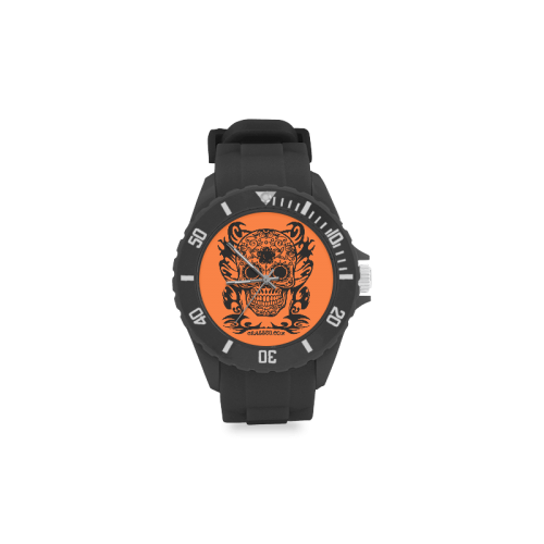 SKULL FLOWERS Sport Rubber Strap Watch(Model 301)