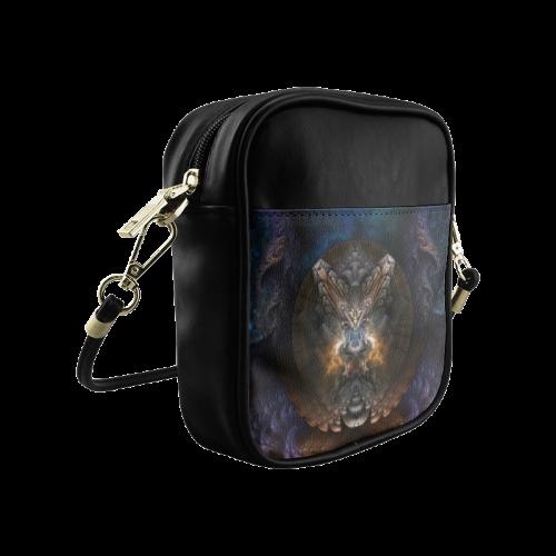Orthricon Fractal Fantasy Sling Bag Sling Bag (Model 1627)