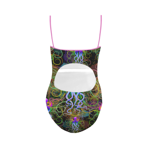 Octopus Psychedelic Luminescence Strap Swimsuit ( Model S05)