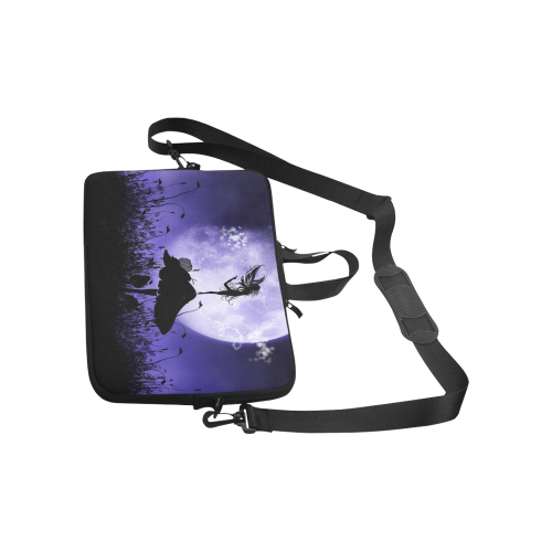"A beautiful fairy dancing on a mushroom silhouette Laptop Handbags 11"""