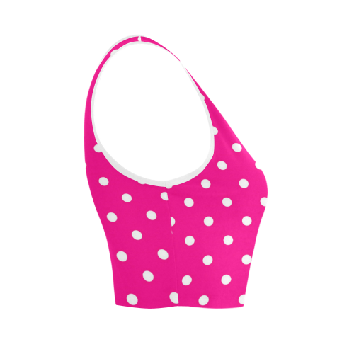 polkadots20160615 Women's Crop Top (Model T42)