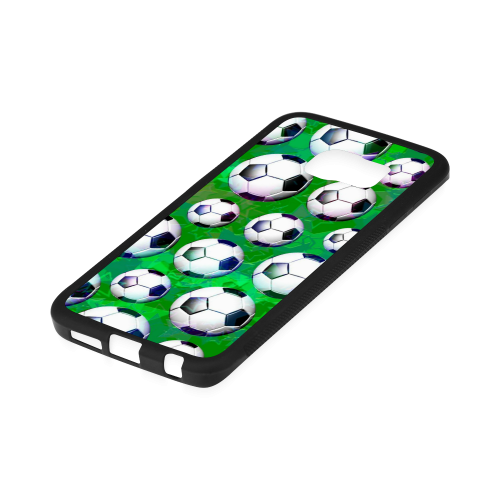 Soccer Ball Football Pattern Rubber Case for Samsung Galaxy S6 Edge