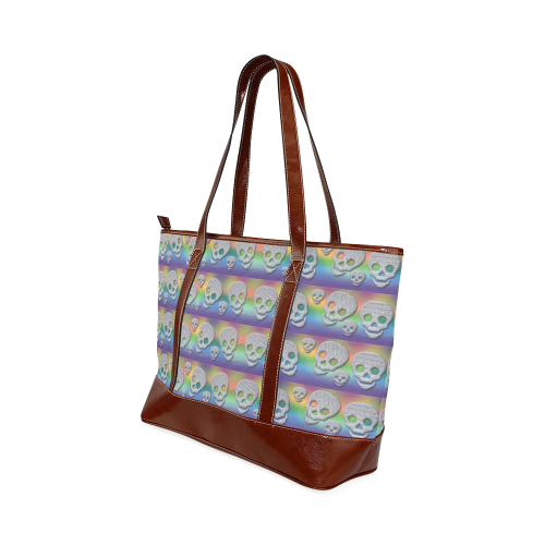 SKULLS MULTICOLOR Tote Handbag (Model 1642)