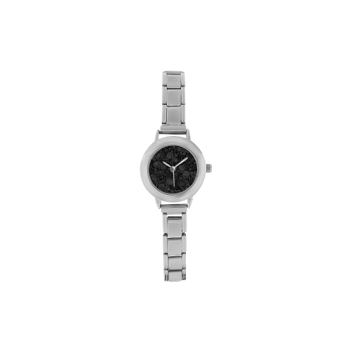 Black and White Rose Women's Italian Charm Watch(Model 107)
