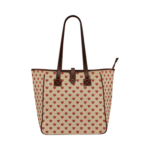 RETRO HEARTS Classic Tote Bag (Model 1644)