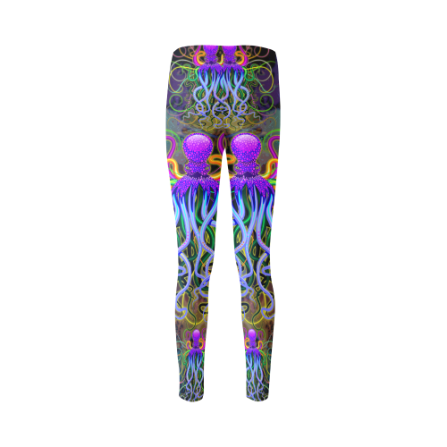 Octopus Psychedelic Luminescence Cassandra Women's Leggings (Model L01)