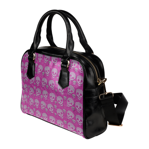 SKULLS PINKY Shoulder Handbag (Model 1634)