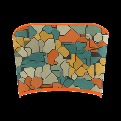 Textured retro shapes Bandeau Top