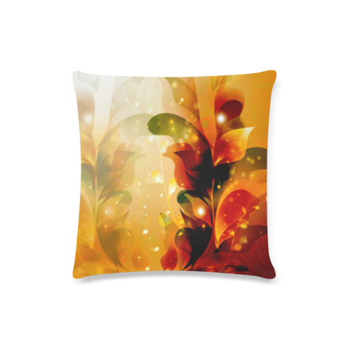 "Awesome abstract flowers Custom Zippered Pillow Case 16""x16""(Twin Sides)"