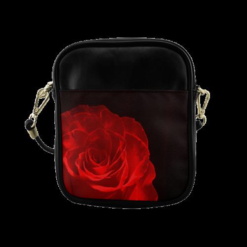 A Rose Red Sling Bag (Model 1627)