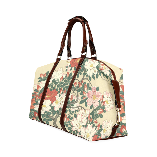 Azalea flowers, Japanese woodcut print, Classic Travel Bag (Model 1643)