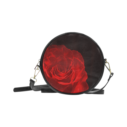 A Rose Red Round Sling Bag (Model 1647)