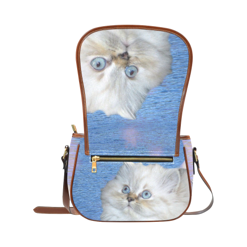 Cat and Water Saddle Bag/Large (Model 1649)