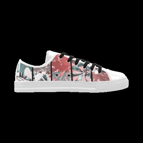 Foliage Patchwork #5 - Jera Nour Aquila Microfiber Leather Women's Shoes (Model 028)