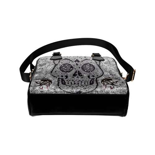 Mosaic Skull Shoulder Handbag (Model 1634)
