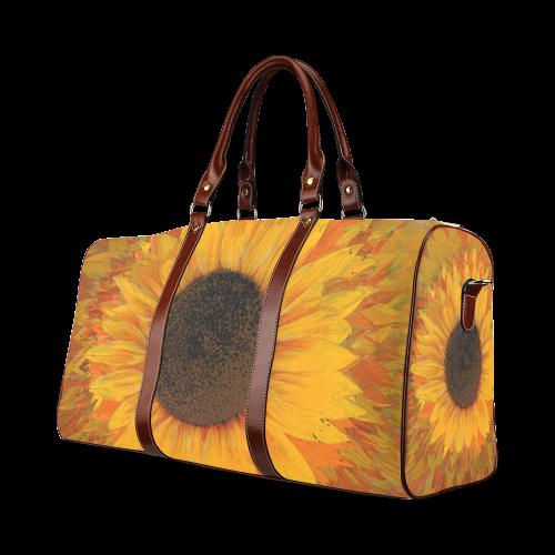 Sunflower Waterproof Travel Bag/Small (Model 1639)