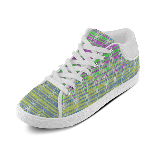 Colorful Waves Women's Chukka Canvas Shoes (Model 003)