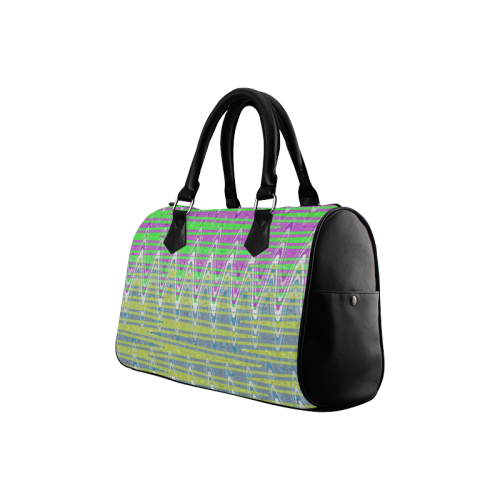 Colorful Waves Boston Handbag (Model 1621)