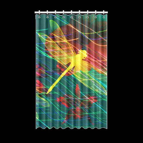 """Yellow Dragonflies Window Curtain 52"""" x 84""""(One Piece)"""