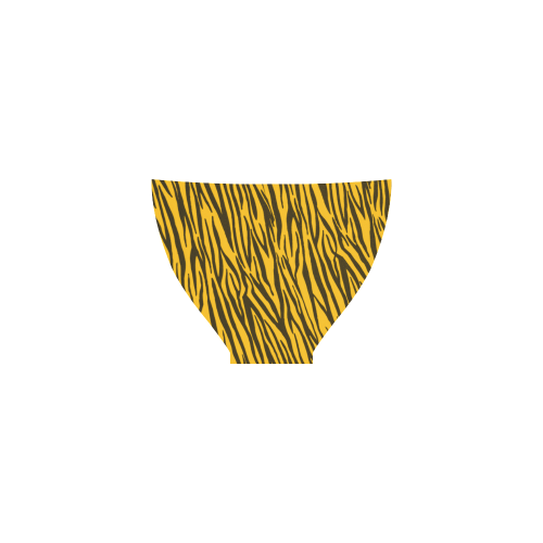 Yellow Zebra Stripes Custom Bikini Swimsuit Id D301971