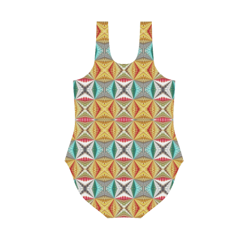 Rex colors-Annabellerockz -swimsuit-one piece Vest One Piece Swimsuit (Model S04)