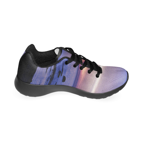 Blue and Purple Sunset Men's Running Shoes (Model 020)