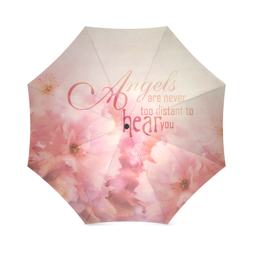 Pink Cherry Blossom for Angels Foldable Umbrella