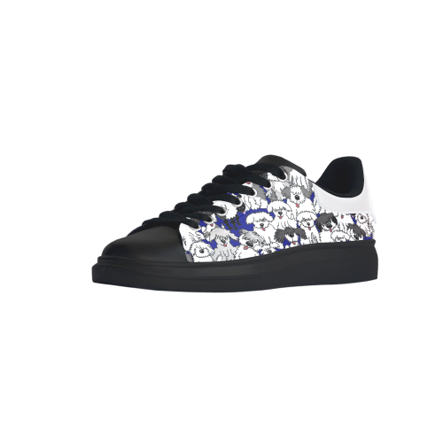 cb81562478c ... Sheepdogs on Watch-NAVY Low Top Loafers Womens Shoes (Model 026) ...
