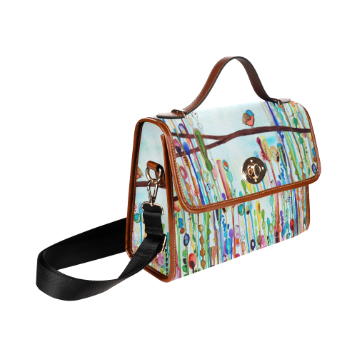 little birdie sturdy foldover handbag Waterproof Canvas Bag/All Over Print (Model 1641)