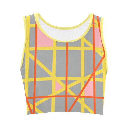 Abstract RQ Women's Crop Top (Model T42)