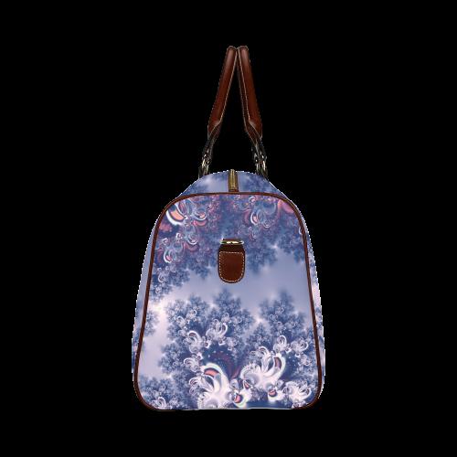 Purple Frost Fractal Waterproof Travel Bag/Small (Model 1639)