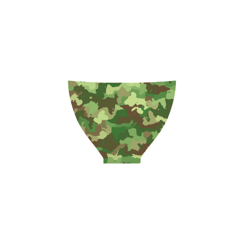 camouflage green Custom Bikini Swimsuit