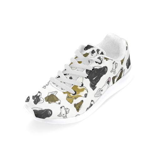 Smooth Fox Terrier white/white Women's Running Shoes (Model 020)